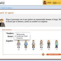 Juego online Simulación Empresarial. Ministerio de España