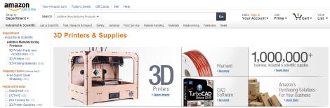 amazon, impresoras 3d, tienda