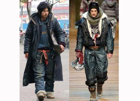 Foto 3. Homeless japones vs modelo pasarela dolce&gabbana