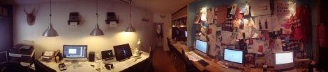 panorámica nömad, oficina, trabajo