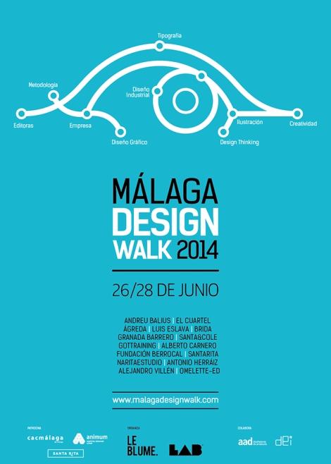 Málaga, diseño industrial, workshops, diseño gráfico, Málaga Design Walk, LAB, ponencias