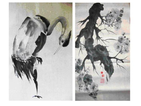 taller de pintura japonesa, sumi e, Málaga, japón, La Térmica, talleres