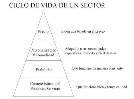 ciclo de vida de un sector